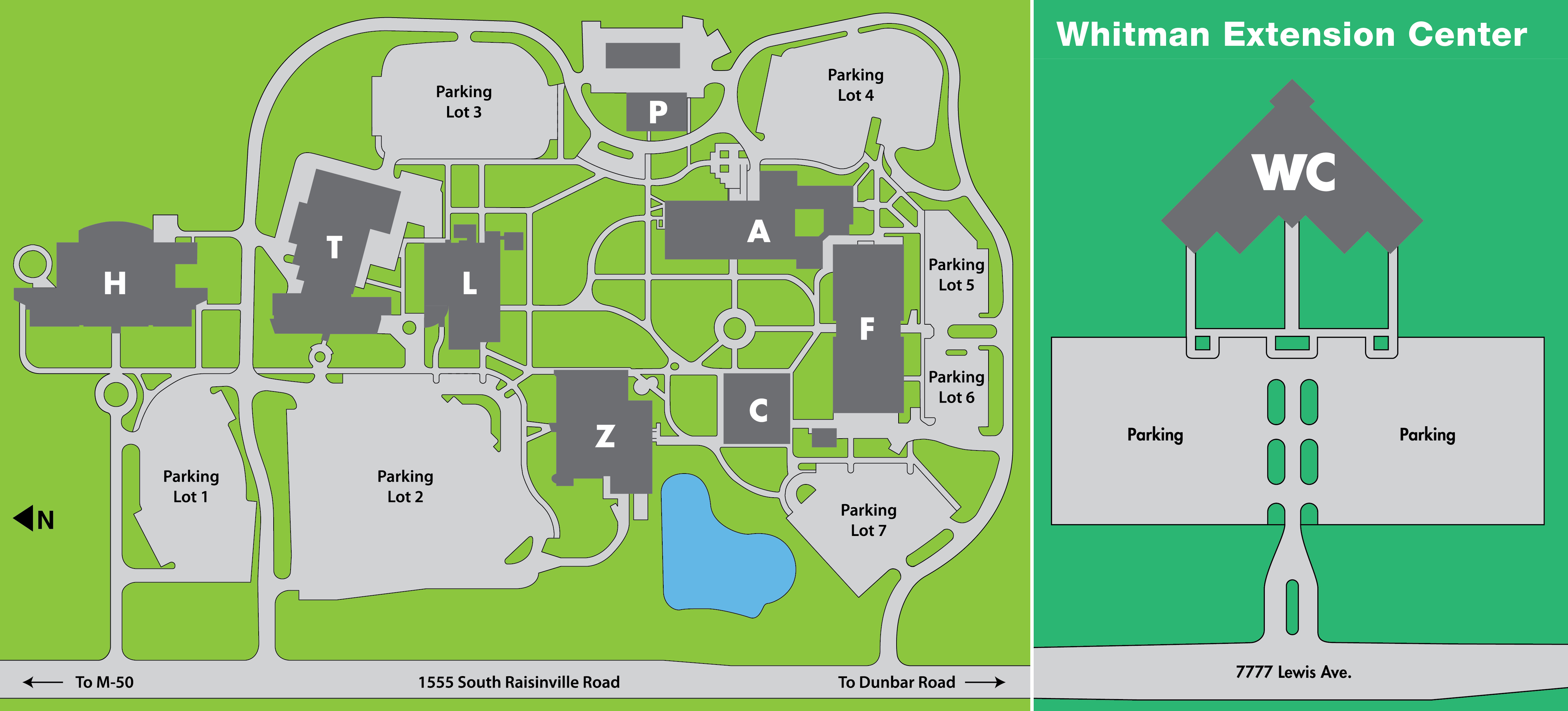 MCCC Main Campus and Whitman Center Map