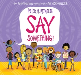 SAY SOMETHING BOOK COVER