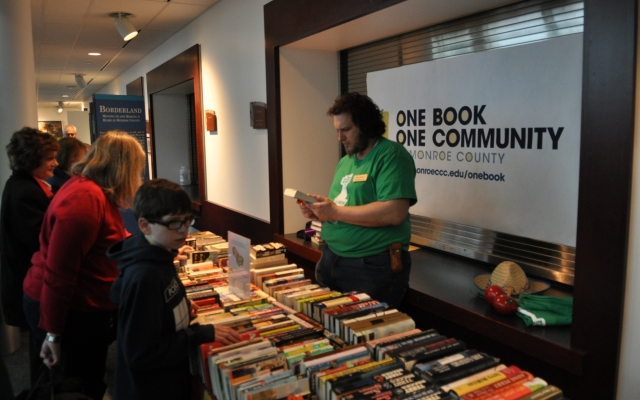 Books being sold at One Book event