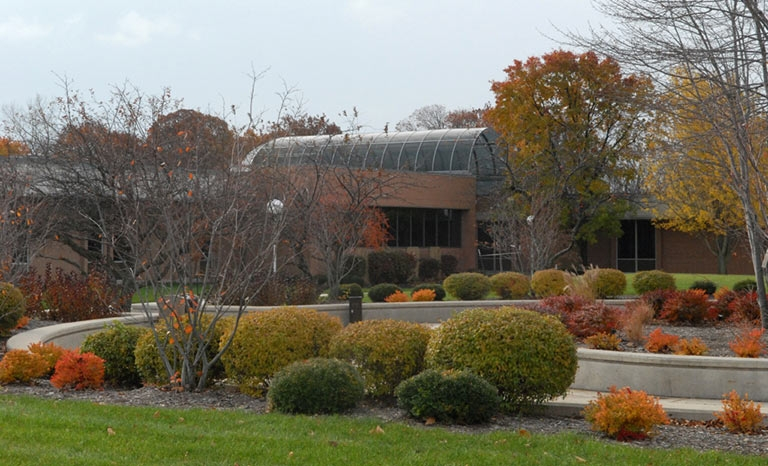 Center Mall and Audrey M. Warrick Student Services/Administration Building