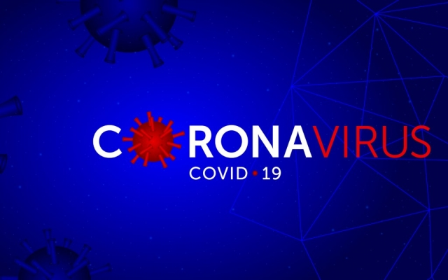 Coronavirus (COVID-19) text and photo